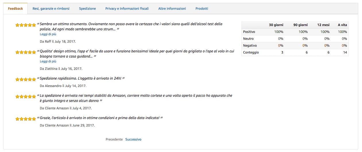 Recensioni-Venditore-Amazon